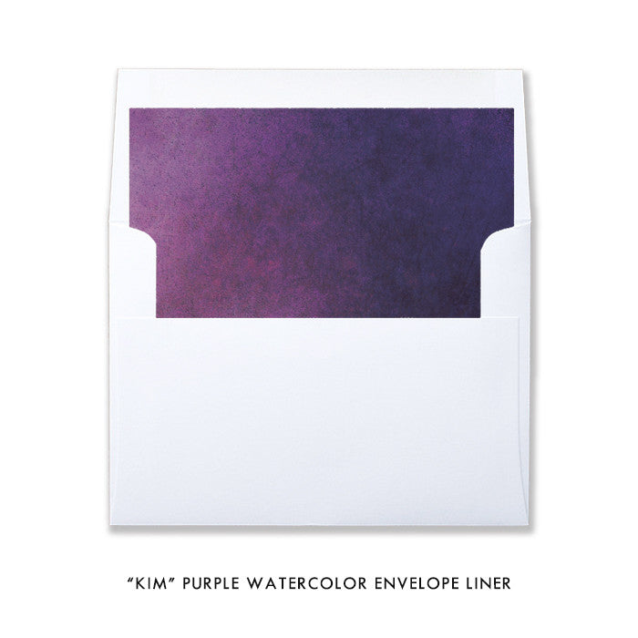 "Purple watercolor ""Kim"" envelope liner 