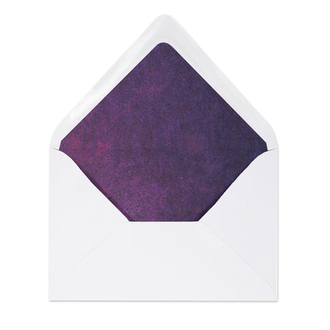 """Kim"" Purple Watercolor Envelope Liners"