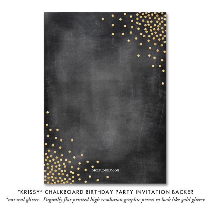 """Krissy"" Chalkboard Birthday Party Invitation"