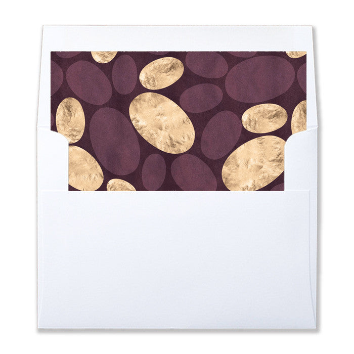 """Lola"" Wine Plum Gold Envelope Liners"