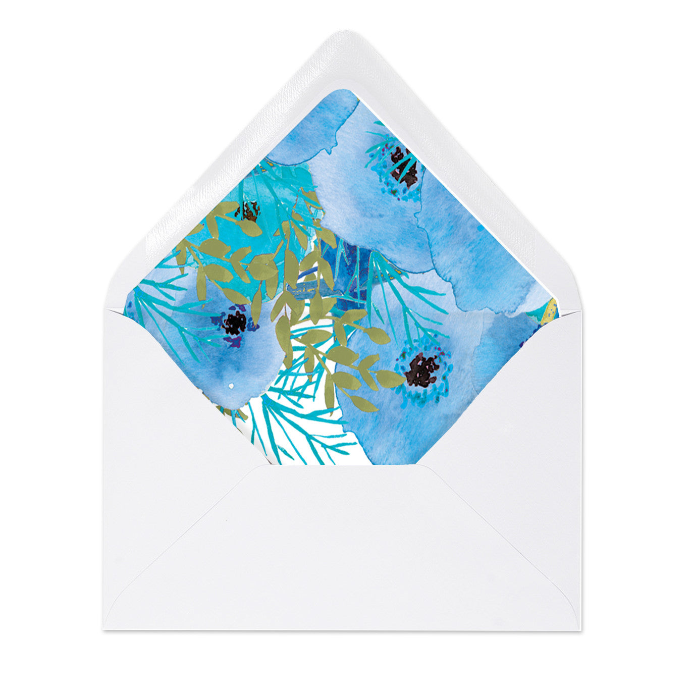 """Mady"" Blue Floral Envelope Liners"