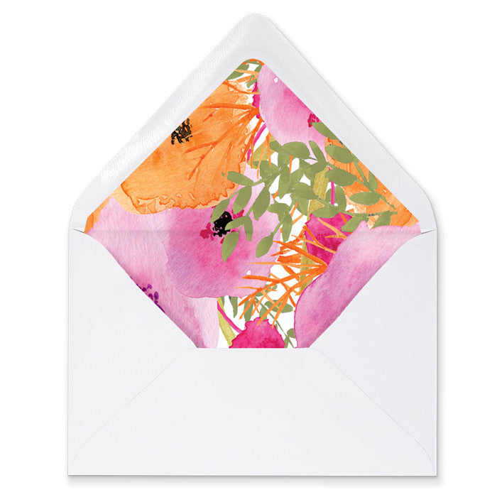 """Mady"" Floral Envelope Liners"