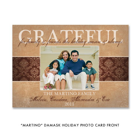 Grateful Family Holiday Photo Card