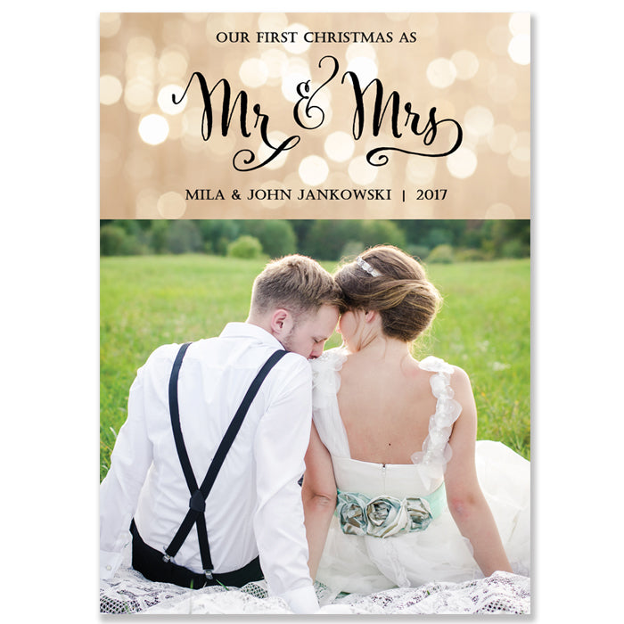Mr. & Mrs. Holiday Cards