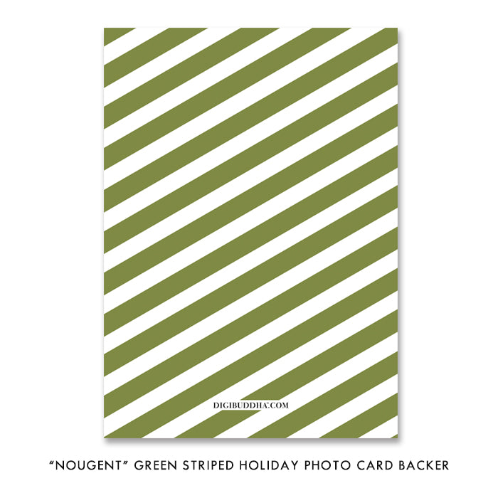 Green Striped Holiday Card