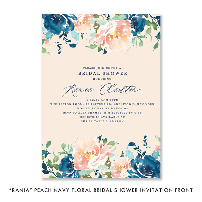 Digibuddha Floral Bridal Shower Invitation