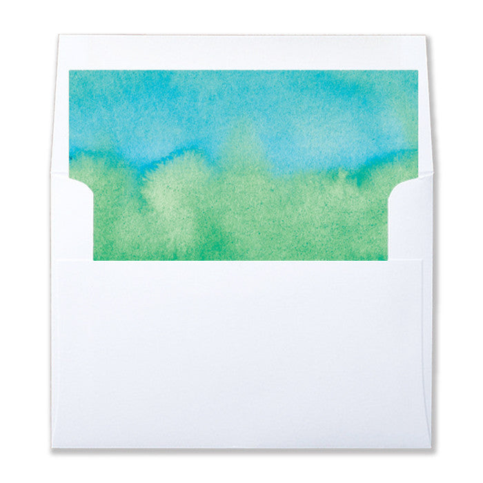 """Rosie"" Green Blue Ombre Envelope Liners"
