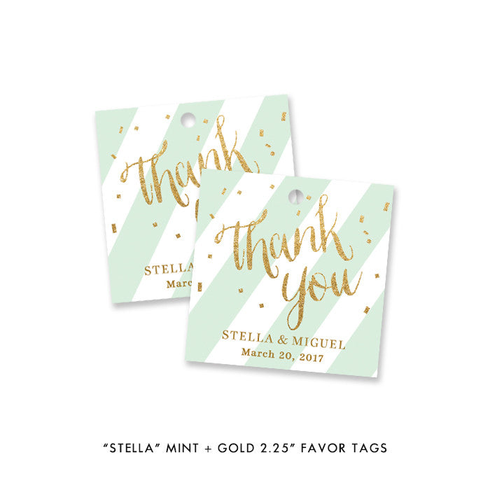 """Stella"" Mint + Gold Glitter Engagement Party Invitation"