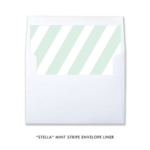 "mint green and white striped envelope liner in ""Stella"" style by digibuddha.com"