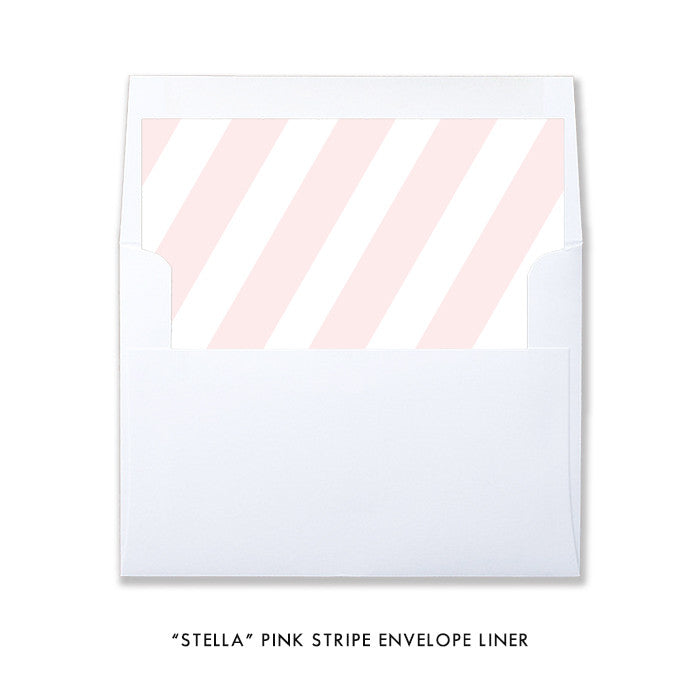 "blush pink striped ""Stella"" envelope liner 