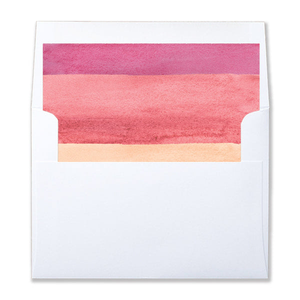 """Tory"" Pink Watercolor Envelope Liners"