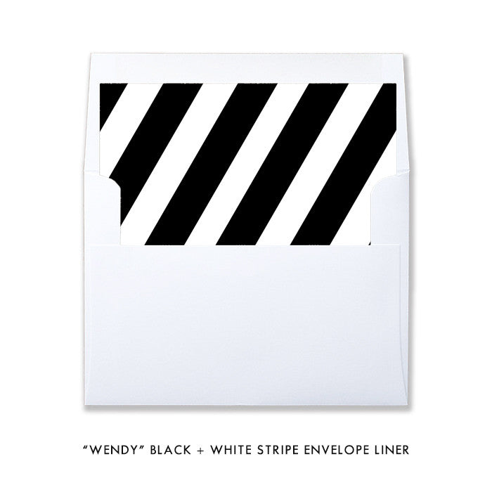 "Black + White stripe ""Wendy"" envelope liner 