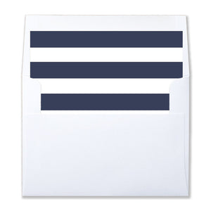 """Wendy"" Navy Stripe Envelope Liners"