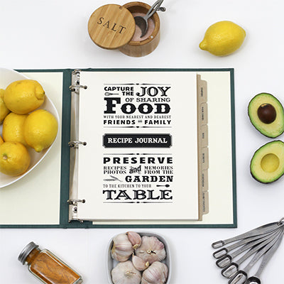 For The Foodie: Recipe Journals