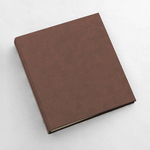 Photo Binder (for 4 x 6 photos) Mocha ~ Animal Friendly Faux Leather