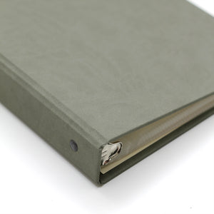 Photo Binder (for 4 x 6 photos) Moss ~ Animal Friendly Faux Leather