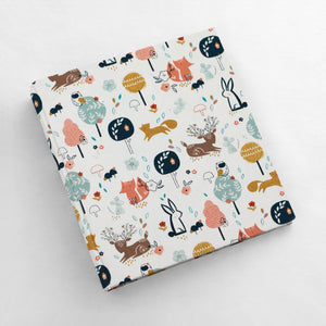 Photo Binder (for 4 x 6 photos) Woodland Fabric Cover