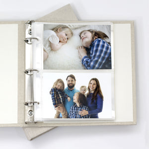 4x6 Photo Binder Refill Sleeves (Standard 4x6 Photos) Set Of 10