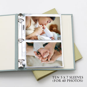 5x7 Photo Binder Refill Sleeves (Standard 5x7 Photos) Set Of 10