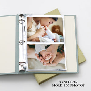 Photo Binder (for 5 x 7 photos) with Navy Silk Cover