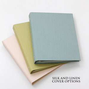 Photo Binder (for 5 x 7 photos) with Silver Silk Cover