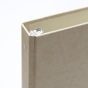 Storage Binder for Photos or Documents with Cream ~ Animal Friendly Faux Leather