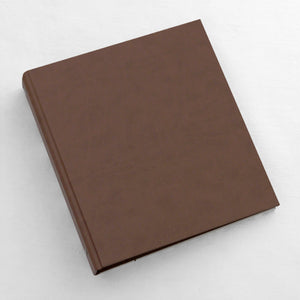 8.5 x 11 Binder Mocha ~ Animal Friendly Faux Leather