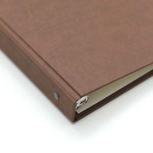 Storage Binder for Photos or Documents with Mocha ~ Animal Friendly Faux Leather