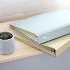 8.5 x 11 Binder with Sage Silk Cover Option
