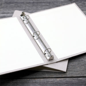 8.5 x 11 Binder with Silver Silk Cover Option