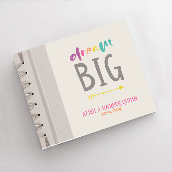Personalized School Years Dream Big {Orange Pink}