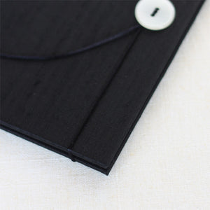 Accordion Book Black Silk