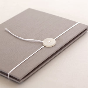 Accordion Book Silver Silk