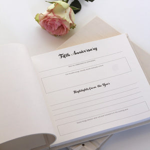 Personalized Anniversary Journal Peach & Gold