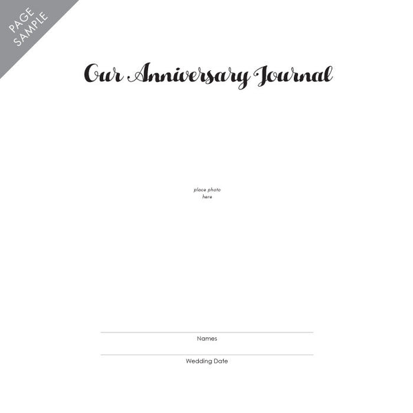 Personalized Anniversary Journal Lace Floral
