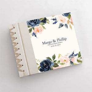 Personalized Anniversary Journal Blue Floral
