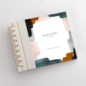 Personalized Anniversary Journal Brushstrokes