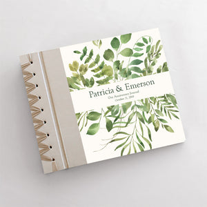 Personalized Anniversary Journal Foliage