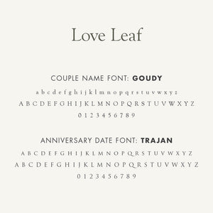 Personalized Anniversary Journal Love Leaf