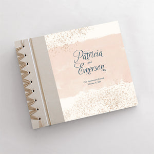 Personalized Anniversary Journal Blush Confetti