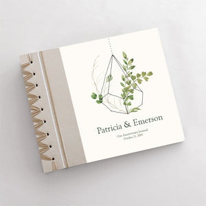 Personalized Anniversary Journal Terrarium