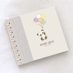 Personalized Baby's First Book Balloon Panda