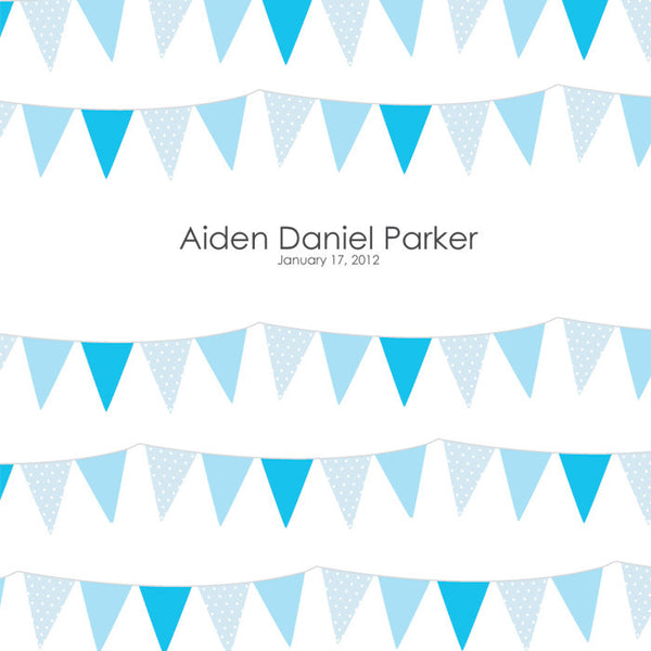Personalized Baby's First Book Blue Bunting