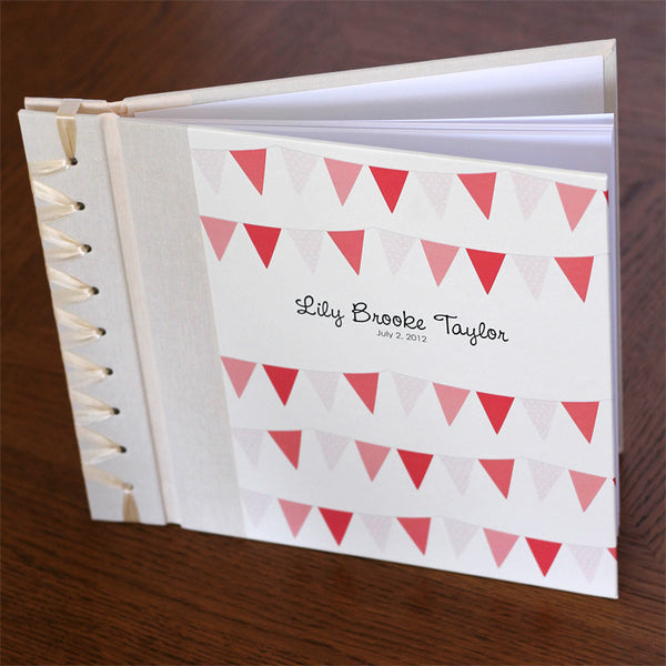 Personalized Baby's First Book Pink Bunting