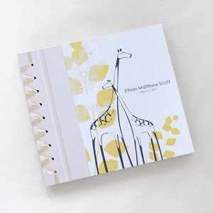 Personalized Baby's First Book Yellow Giraffe