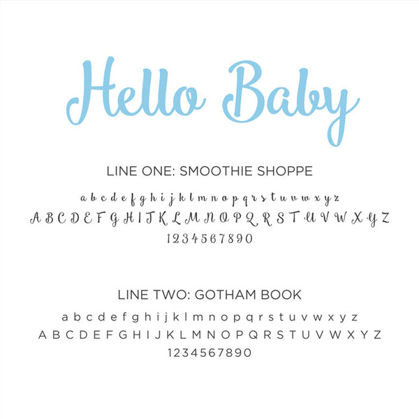 Personalized Baby's First Book Hello Baby Blue