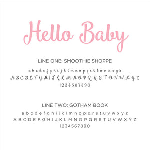 Personalized Baby's First Book Hello Baby Pink