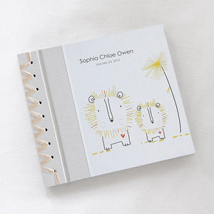 Personalized Baby's First Book Yellow Lion