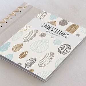 Personalized Baby's First Book Leaf Toss