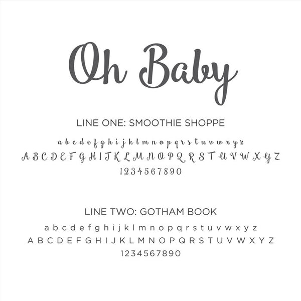 Personalized Baby's First Book Oh Baby Gray